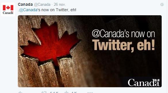 El Limpiabotas del Café Central - Primer tuit oficial de @canada.