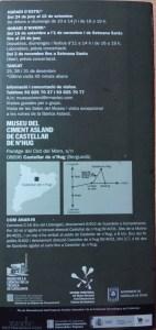 Museo del Cemento Asland - Folleto del Museo - Reverso