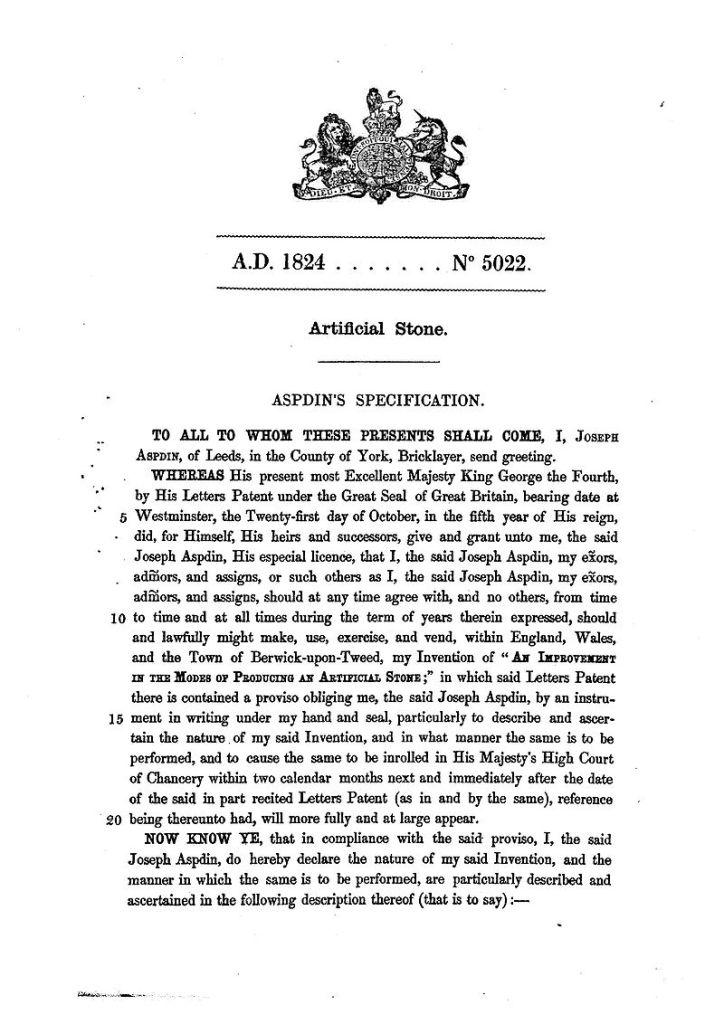 Museo del Cemento Asland - Patente de Joseph Aspdin (5)