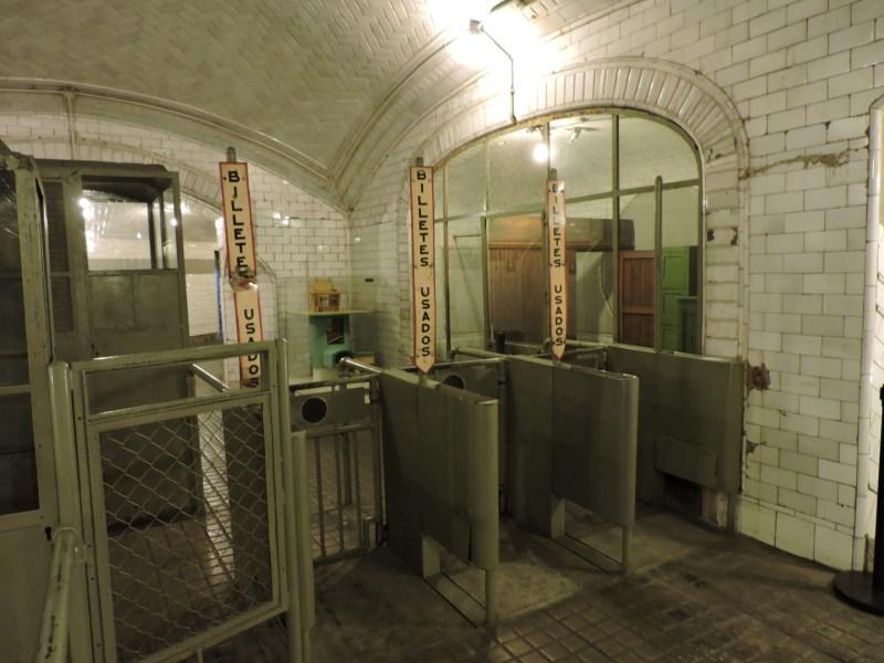 Estación Fantasma de Chamberí - Taquillas de acceso