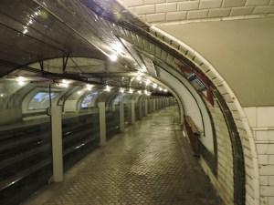 Estación Fantasma de Chamberí - Curvatura del andén de Chamberí