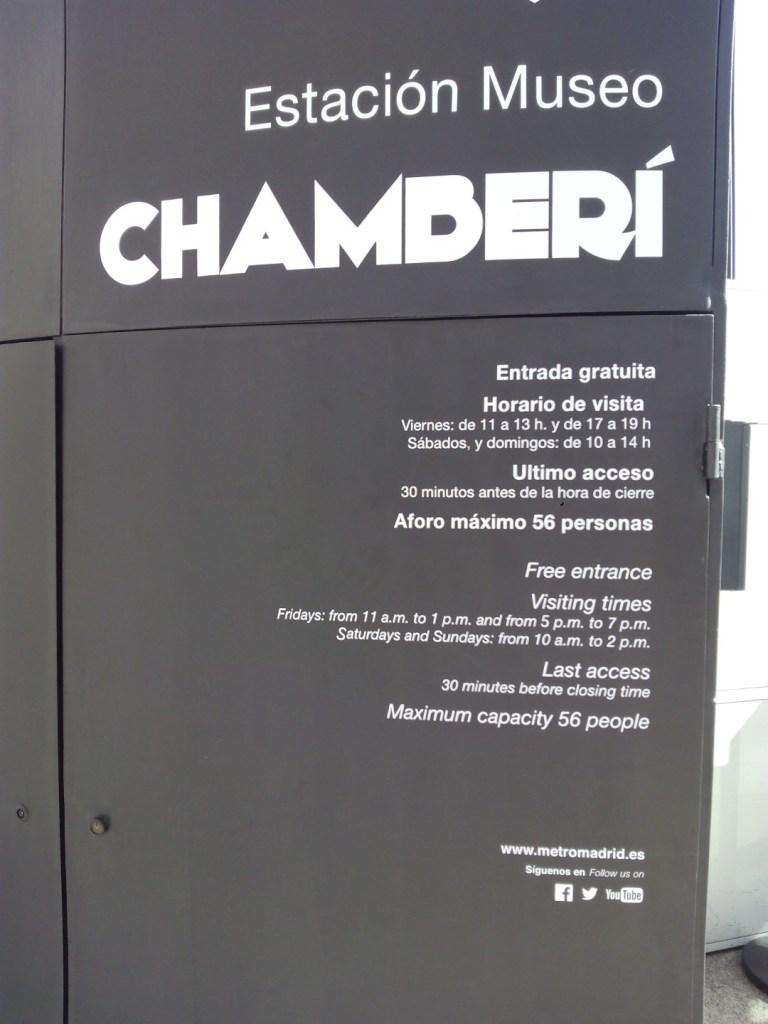Estación Fantasma de Chamberí - Horarios de visita