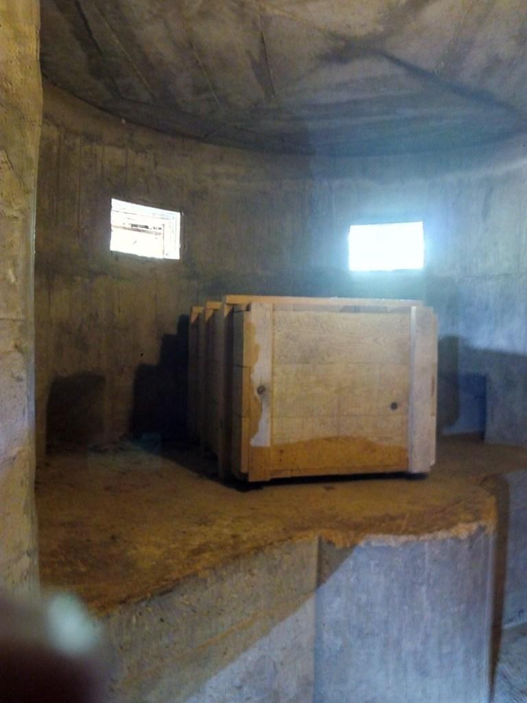 Parque de los búnkeres - Interior del nido de ametralladoras