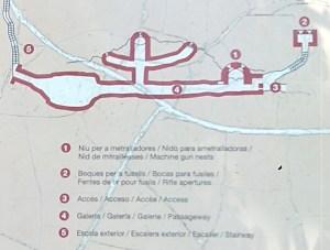 Parque de los búnkeres - Plano del búnker Roca de la Miel