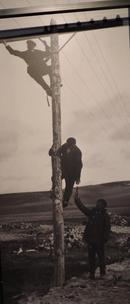 Museo de las Telecomunicaciones - Tendido de cable telegráfico en España