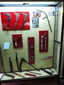 Museo Mundo Negro - Diversas armas tradicionales africanas.