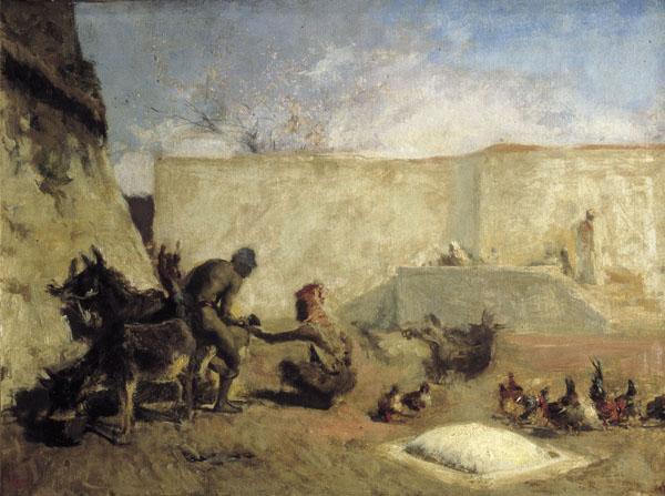 Museo Veterinaria Militar - Herrador en Marruecos, de Fortuny (1870). Museo Nacional de Arte de Cataluña (3).