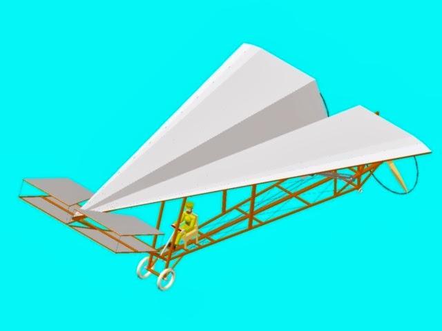 El Vuelo de Juan Olivert - Como curiosidad, Causarás diseñó un aeroplano en forma de ala delta, con un notable parecido a los aviones de papel, pero que no llegó a construirse (9)
