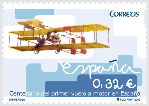 El Vuelo de Juan Olivert - Sello de Correos conmemorativo del vuelo de Juan Olivert.