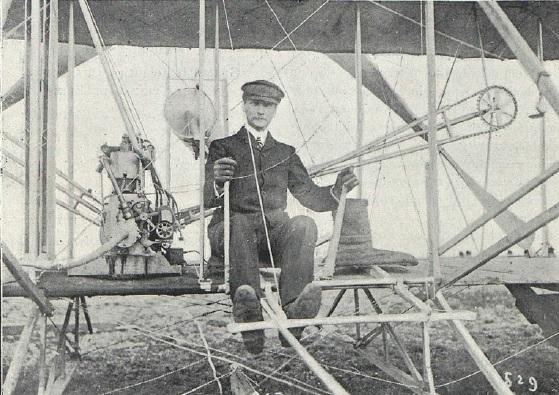 El Vuelo de Juan Olivert - El Conde de Lambert, uno de los tres primeros alumnos de la Escuela de Aviación de los Hermanos Wright en Pau (6).