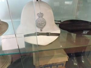 Colección de la Policía de Boadilla - Curioso casco de la Policía de Barbados.