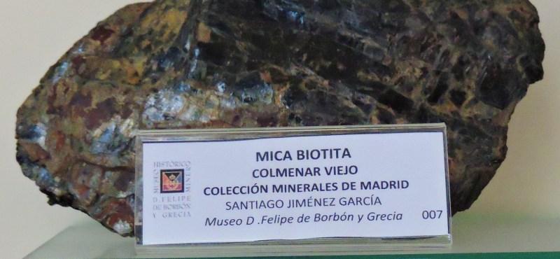 Museo Histórico-Minero - Mica de la colección de Santiago Jiménez García.
