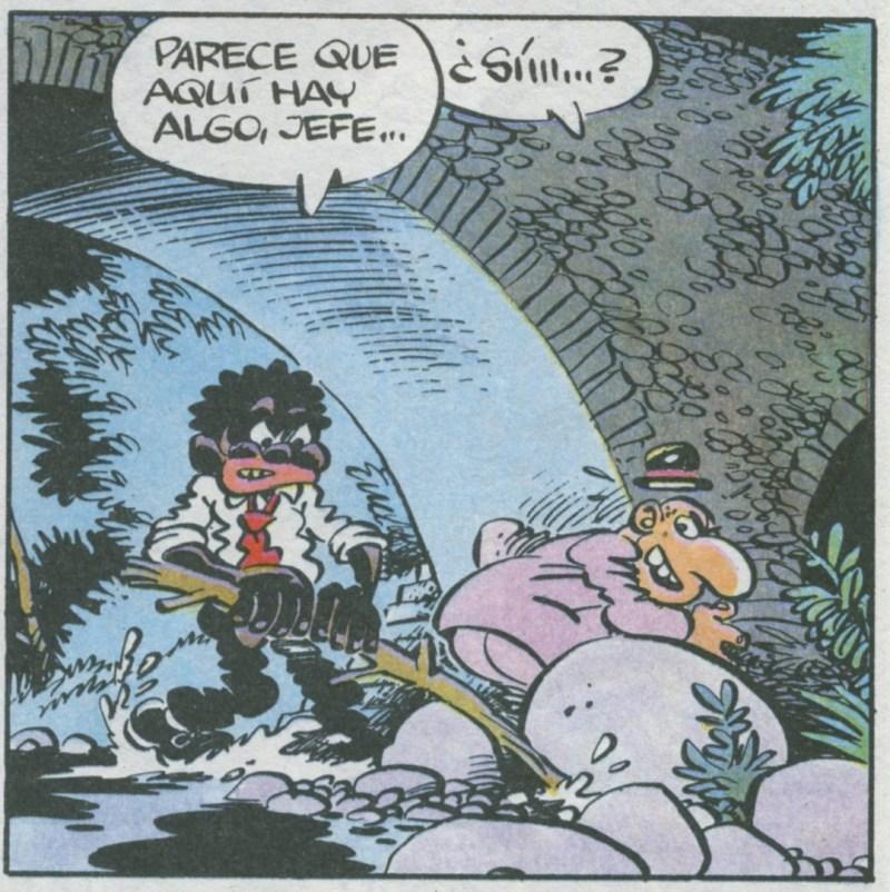 Superlópez en Camprodón - El paquete con el cerdito y el virus estaba escondido debajo del puente, tras una piedra.