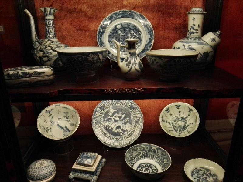 El Galeón de Manila - Porcelana china tradicional, con pintura azul.