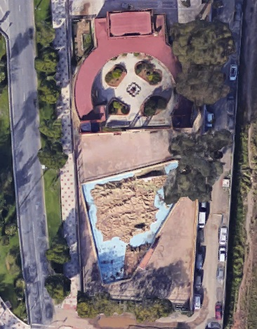 Colegio del Mapa - Vista aérea del Colegio del Mapa. Lo dicho: el Alcalde y el Comandante eran auténticos frikis (1).