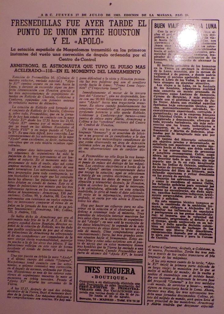 Museo Lunar - La llegada del hombre a la Luna convirtió a Fresnedillas en el centro de atención de la prensa.