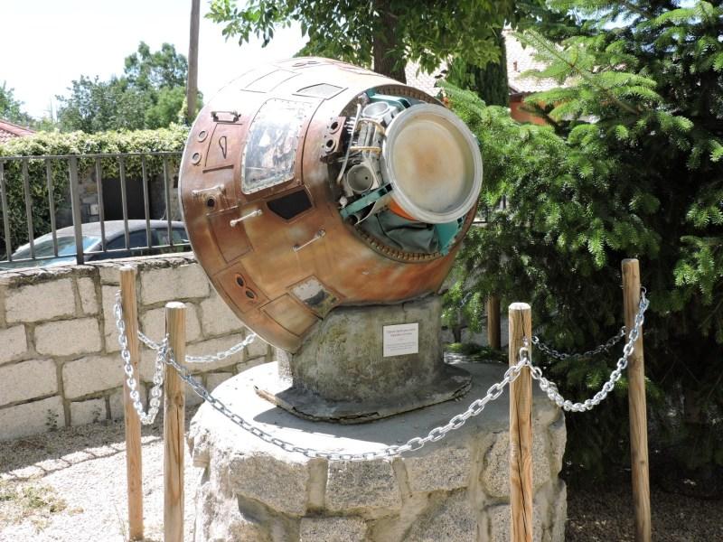 Museo Lunar - Reproducción del Módulo de Mando de la nave Apolo XI.