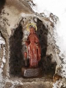 La Montaña de Sal - Virgen realizada en carnalita.