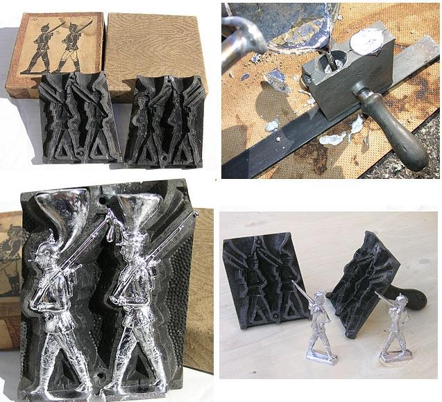 Museo de Miniaturas Militares - Proceso de fabricación de figuras metálicas (2).