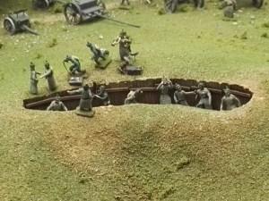 Museo de Miniaturas Militares - Las trincheras aparecieron en esta gran guerra como método para mantener las posiciones en llano.