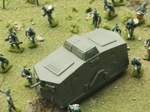 Museo de Miniaturas Militares - Un tanque alemán Sturmpanzerwagen A7V.