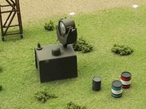Museo de Miniaturas Militares - Reflectores para detectar aviones durante la noche.