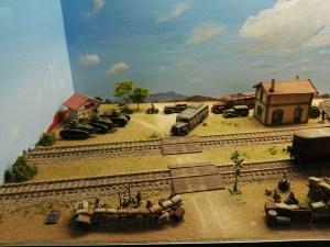 Museo de Miniaturas Militares - Al fondo, tanques Renault FT-17 republicanos.