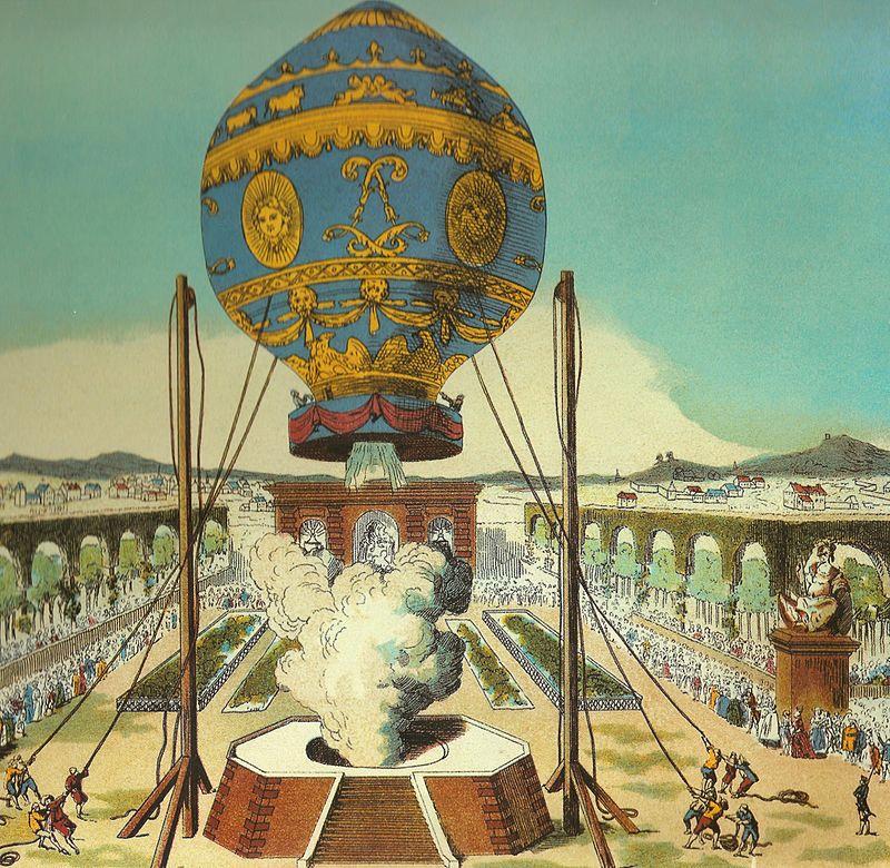 Museo del Aire - Ascensión de los hermanos Montgolfier en París (3).