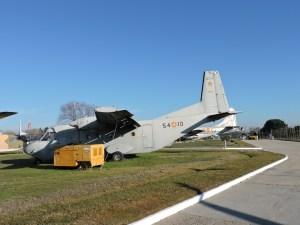 """Museo del Aire - CASA C-212 """"Aviocar"""", el avión español más vendido. Sigue actualmente en operación en multitud de países, gracias a su bajo coste operativo."""
