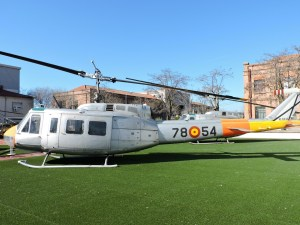 Museo del Aire - Augusta-Bell AB-205, del que llegamos a tener 25 unidades, tanto en el Ejército del Aire, como en el de Tierra.
