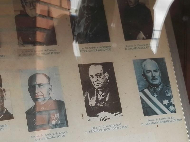 Museo del Aire - Algunos de los generales asistentes al acto de proclamación.