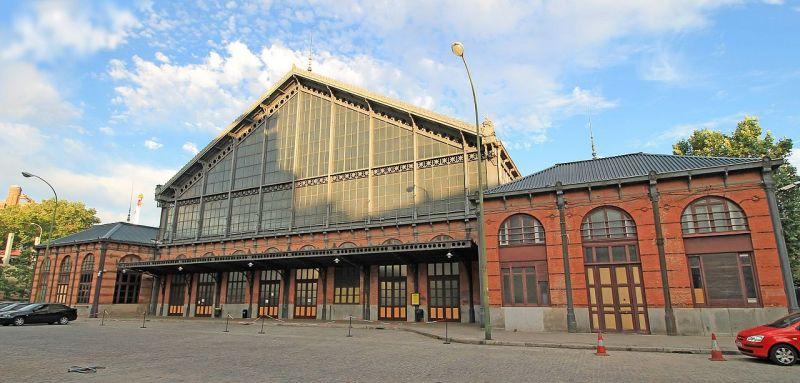Almacén del MUNCYT - Fachada de la antigua estación de pasajeros de Delicias (2).