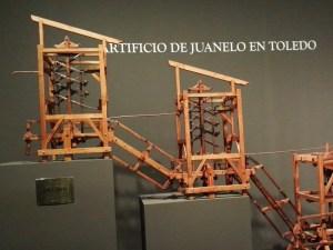 Maquetas y Modelos Históricos - Mediante una estructura de tirantes y forzantes, Turriano era capaz de transmitir energía a todas las estaciones.