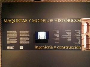 Maquetas y Modelos Históricos - Cartel de la exposición.