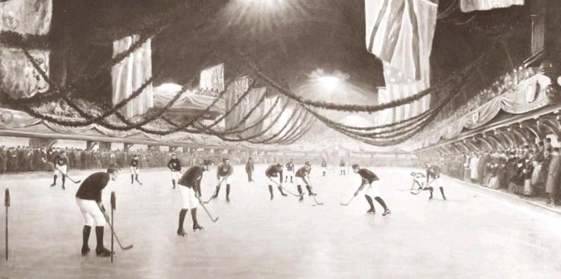 El Jugador de Hockey - Partido de hockey hielo en la pista de hielo Victoria (2).