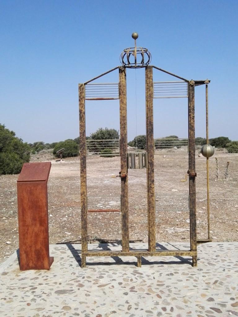 El telégrafo óptico - Reproducción de un telégrafo óptico de Mathé.