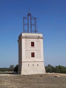 El telégrafo óptico - Vista frontal de la torre.