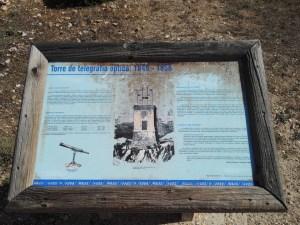 El telégrafo óptico - Panel explicativo.