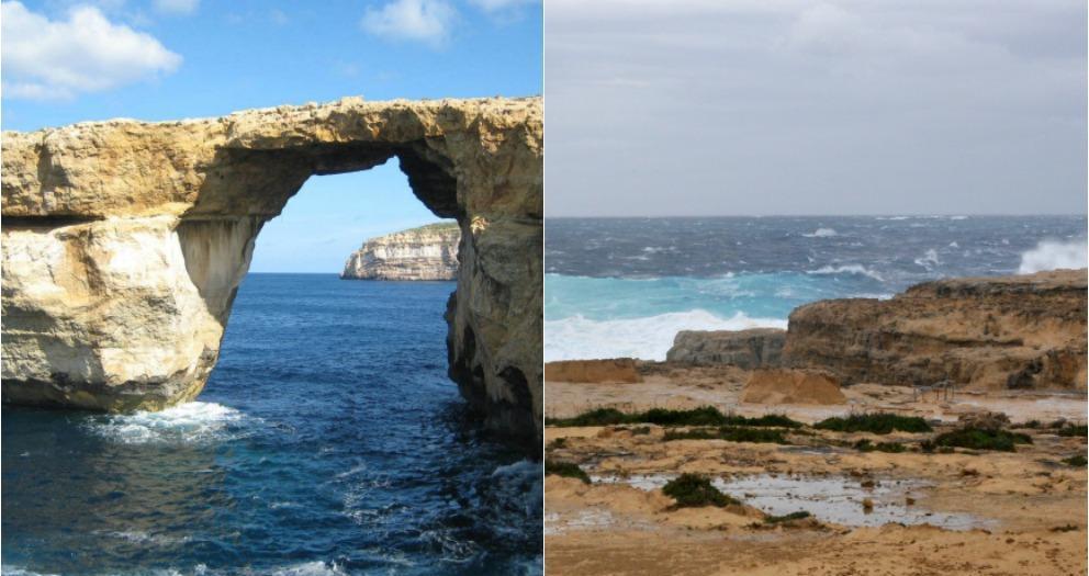 Derrumbamiento ventana azul Malta
