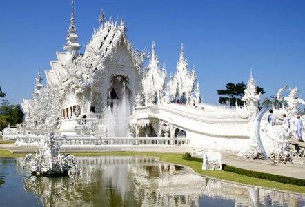 templo blanco Tailandia triangulo de oro
