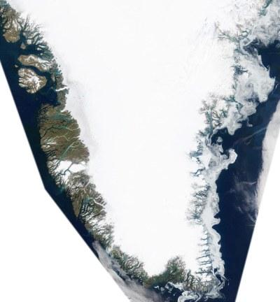 Groenlândia - Imagens de Satélite, Ártico - Groelandia