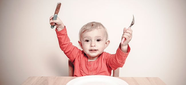 Cuchillos y vasos de cristal para bebés ¿sí o no?