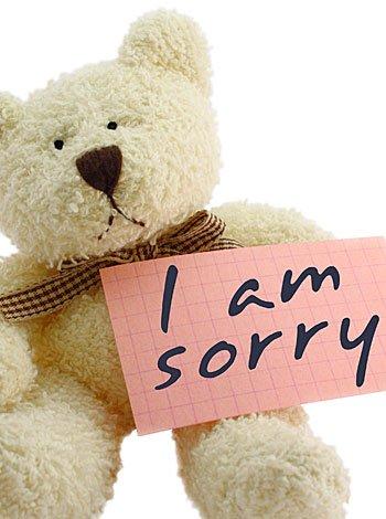 ¡Lo siento! (Normalmente soy más amable)