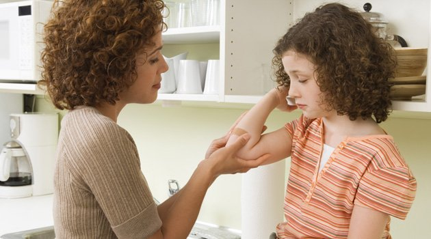 Cómo curar las heridas de los niños