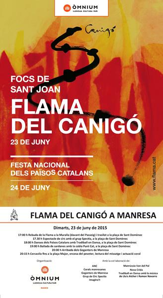 Flama del Canigó 2015 - Manresa