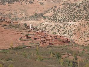 Povoação berbere nas Montanhas do Atlas
