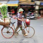 ciclista en Hanoi
