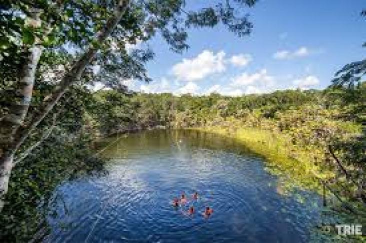 Cenote La Mojarra em Puerto Morelos