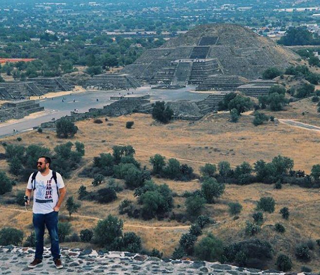 Teotihuacán pirâmides astecas no México