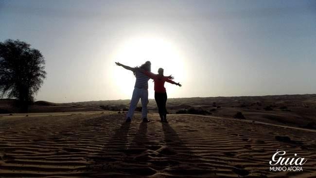 Por do Sol deserto Dubai